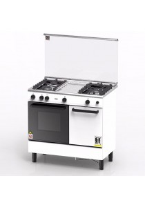 ZANUSS Gas Cooker 3 Burners with 62L Gas Oven ZCG930W