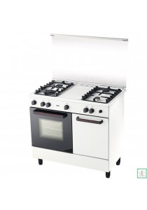 ZANUSSI Gas Cooker 3 Burners with 62L Electric Oven Multi Function ZCG932W