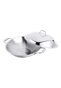 Zebra Stainless Steel 36cm 5ply FB Wok - Estio 501 # Z176 210