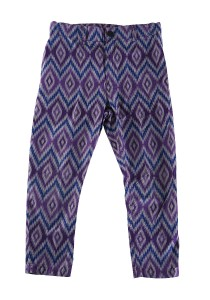 Zayn & Zayd Printed Pants Purple / Grey Batik