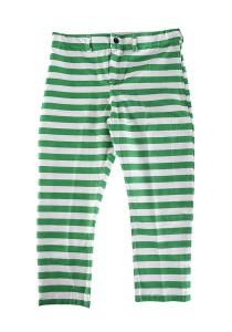 Zayn & Zayd Printed Pants Green / White Stripes