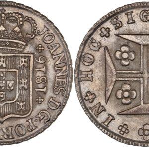 Portugal 1816 400 Reis AU-58