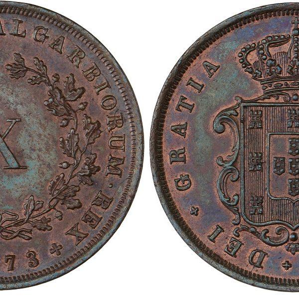 Portugal 1873 X Reis AU Details