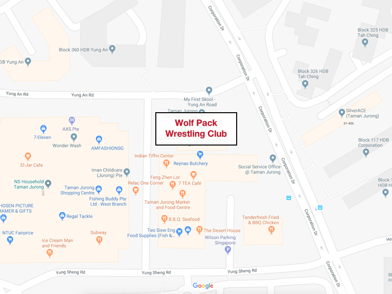 Wolf Pack Wrestling Club Location Map