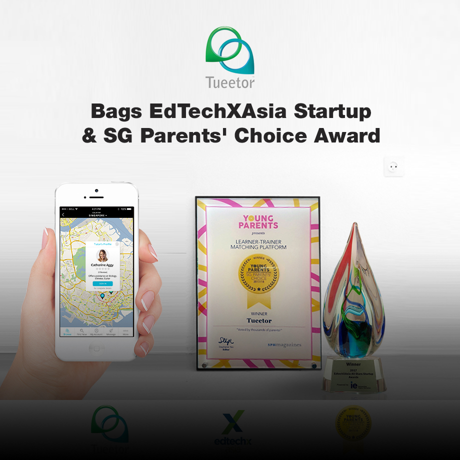 Tueetor, an online marketplace that connects learners and trainers has been awarded the prestigious EdTechXAsia Annual Startup Award 2017
