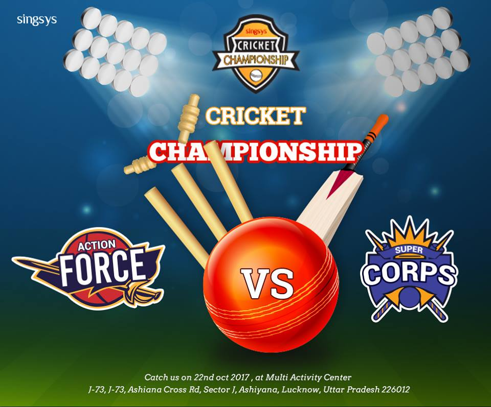 Singsys successfully organised 15 overs in-house Cricket Championship