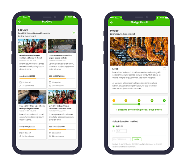 GreActive - EcoGive, EcoCare and Pledges