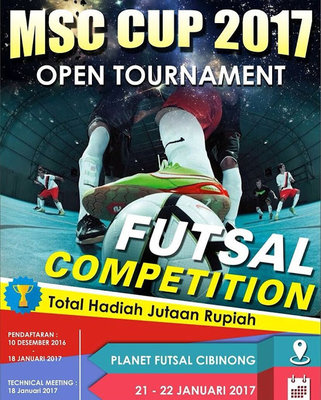 Msc cup 2017 open tournament futsal competition