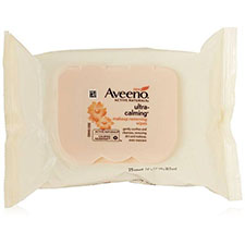 Aveeno+ultra calming+makeup+removing+wipes