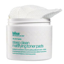 Bliss+steep+clean+mattifying+toner+pads