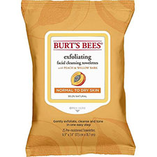 Burt%27s+bees+exfoliating+facial+cleansing+towelettes+peach+%26+willow+bark