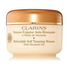 Clarins+delectable+self tanning+mousse+with+mirabelle+oil%2c+spf+15