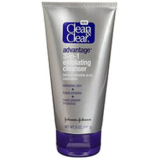 Clean+%26+clear+advantage+3 in 1+exfoliating+cleanser