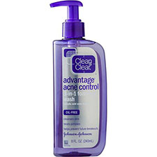 Clean+%26+clear+advantage+acne+control+3 in 1+foaming+wash