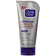 Clean+%26+clear+advantage+oil+absorbing+cream+cleanser+oil free