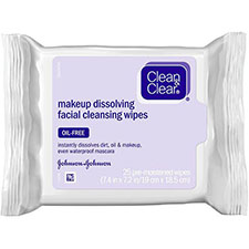 Clean+%26+clear+makeup+dissolving+facial+cleansing+wipes