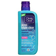 Clean+%26+clear+triple+clear+bubble+foam+cleanser
