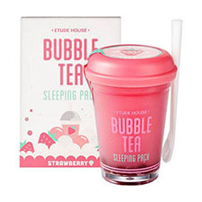 Etude+house+bubble+tea+sleeping+pack+ +strawberry