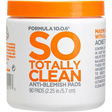 Formula+10.0.6+so+totally+clean+anti blemish+pads