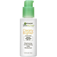 Garnier+skinactive+clearly+brighter+brightening+%26+smoothing+daily+moisturizer+spf+15
