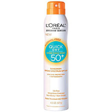 L%27oreal+paris+advanced+suncare+quick+dry+sheer+finish+spray+spf+50