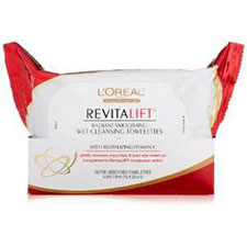 L%27oreal+paris+revitalift+radiant+smoothing+wet+cleansing+towelettes