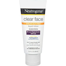 Neutrogena+clear+face+liquid lotion+sunblock+spf+55