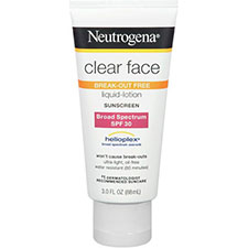 Neutrogena+clear+face+liquid lotion+sunblock