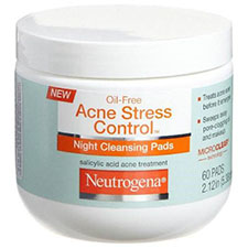 Neutrogena+oil free+acne+stress+control+night+cleansing+pads