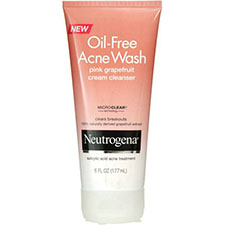 Neutrogena+oil free+acne+wash+pink+grapefruit+cream+cleanser