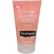 Neutrogena+oil free+acne+wash+pink+grapefruit+foaming+scrub