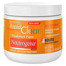 Neutrogena+rapid+clear+maximum+strength+acne+treatment+pads