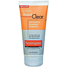 Neutrogena+rapid+clear+oil control+foaming+cleanser