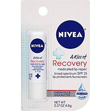 Nivea+a+kiss+of+recovery+medicated+lip+protectant+spf+15