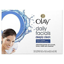 Olay+daily+deeply+clean+4 in 1+water+activated+cleansing+face+cloths