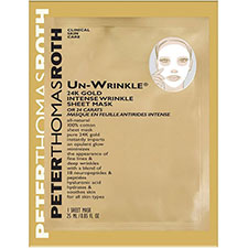 Peter+thomas+roth+travel+size+un wrinkle+24k+gold+intense+wrinkle+sheet+mask