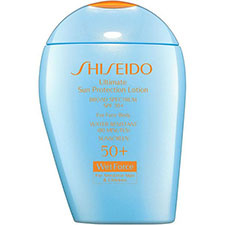 Shiseido+ultimate+sun+protection+lotion+broad+spectrum+spf+50%2b+wetforce+for+sensitive+skin+and+children