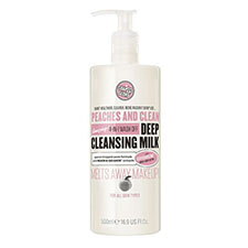 Soap+%26+glory+peaches+%26+clean+4 in 1+wash+off+deep+cleansing+milk+minty+peach