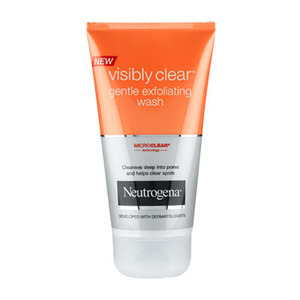 Visibly clear gentle efoliating wash