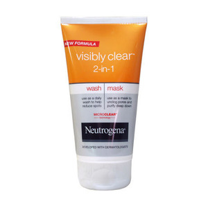 Neutrogena visibly clear 2 in 1 wash and mask