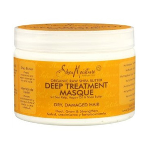 Raw shea butter moisture recovery treatment masque