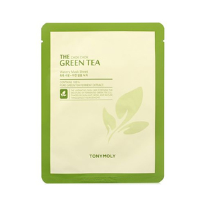 The chok chok green tea watery sheet mask