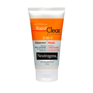 Rapid clear 2 in 1 cleanser mask