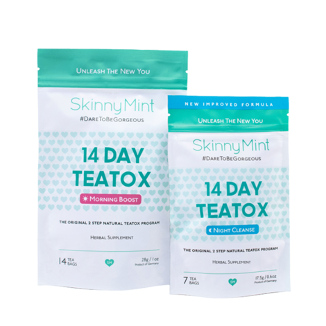 skinnymint tea detox program 14 day teatox