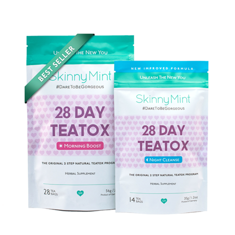 skinnymint tea detox program 28 day teatox