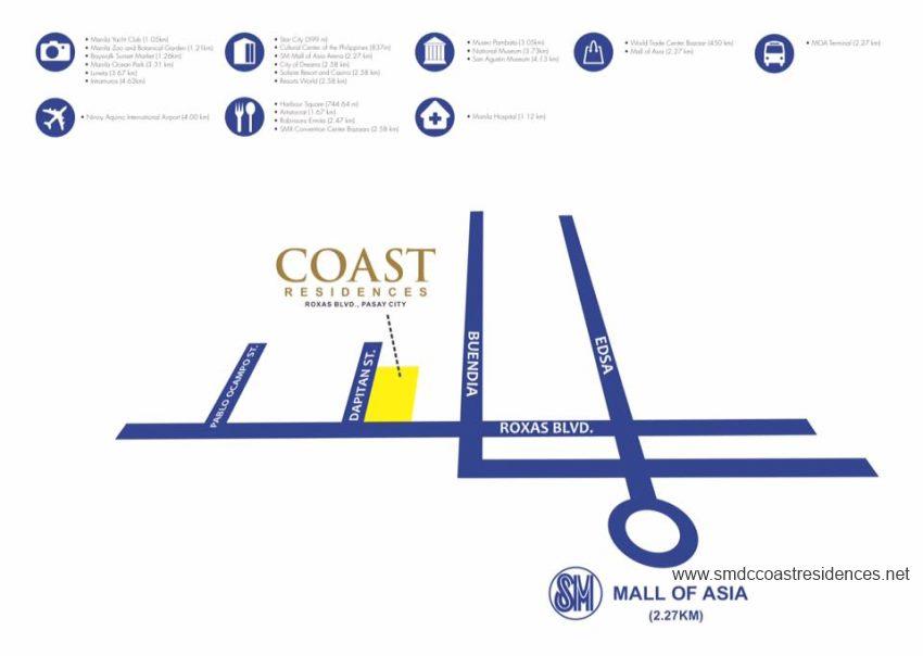 Coast Residences Location