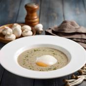 Truffle Oil Onsen Egg Mushroom Soup