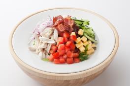 Mad for Garlic Cobb Salad  (contains pork)