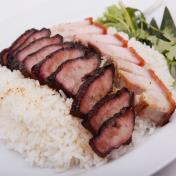 Char Siew & Roasted Pork Rice - 叉烧烧肉饭