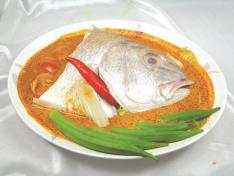 Nonya Style Steam Fish Head (Spicy) 娘惹蒸鱼头 - Chef Recommended